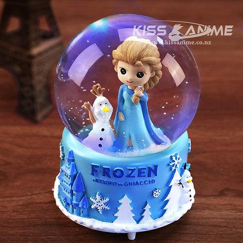 Frozen Elsa Crystal Ball Snowflake Music Box (B)