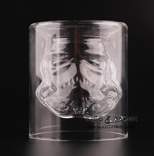 Star Wars Stormtrooper Double Glass Mug
