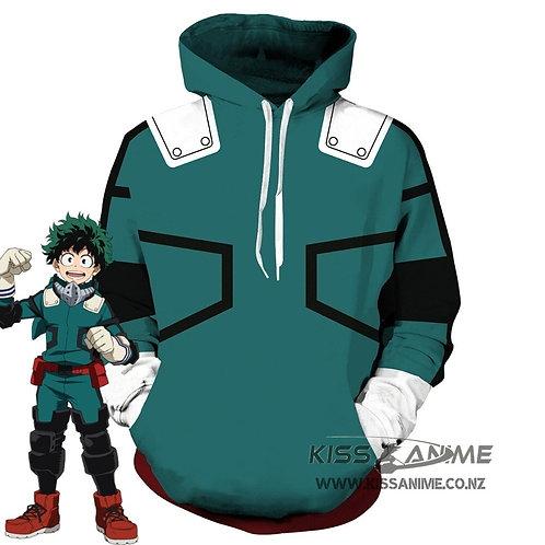 My Hero Academia Izuku Midoriya Pullover Jacket Hoodie