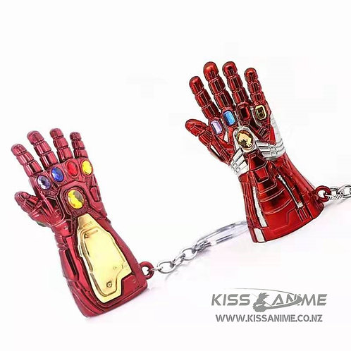 Marvel Iron Man and Hulk Infinity Gauntlet Keyring