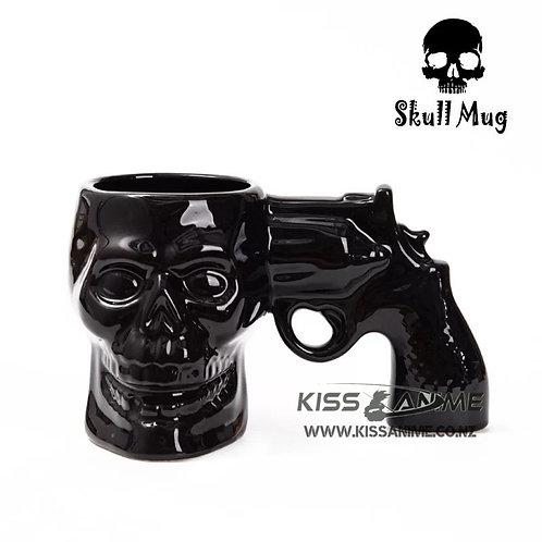 Skull Gun Mug 3D Ceramic Mug