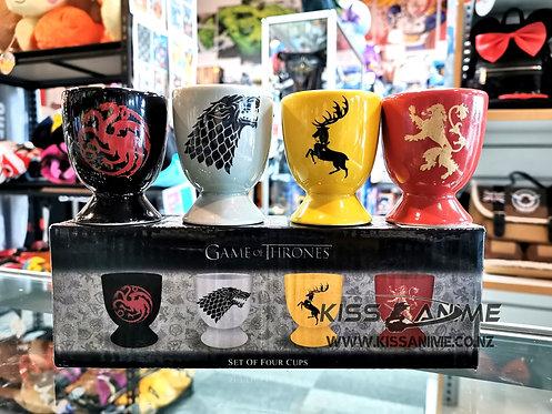 Game of Thrones Ceramic Set of Four Egg Cups