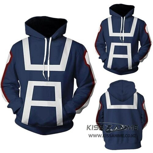 My Hero Academia Gym Uniform Pullover Jacket Hoodie