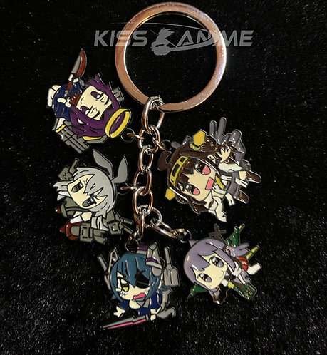 Kantai Collection  5 Pendant Metal Keychain