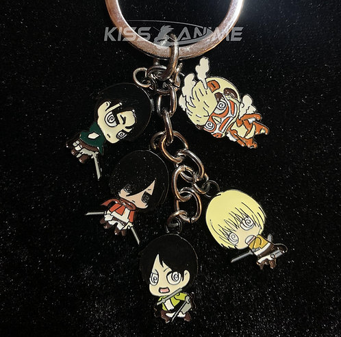 Attack on Titan 5 Pendant Metal Keychain