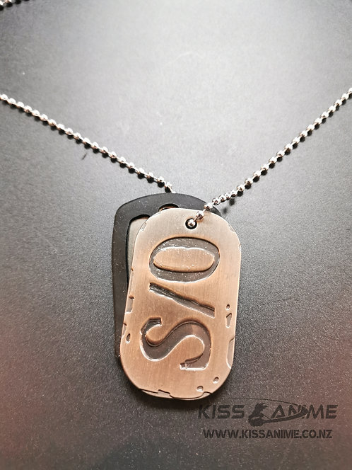 Gangsta S/0 Dog Tags Pendants Necklace