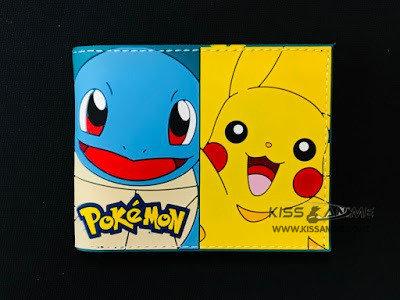 Pokemon Pikachu, Squirtle, Bulbasaur, Charmander Wallet