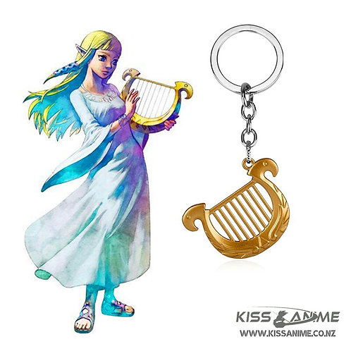 The Legend of Zelda Princess Harp Keychain