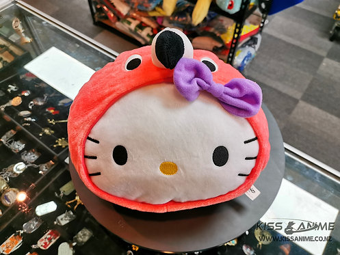 Hello Kitty Flamingo Head Plush Cushion
