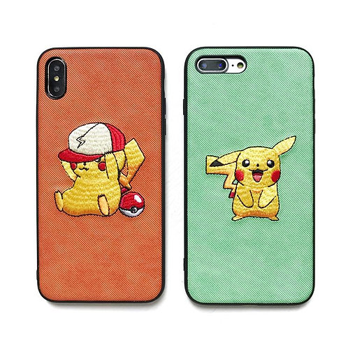 Pokemon Pikachu Embroidered Phone Case