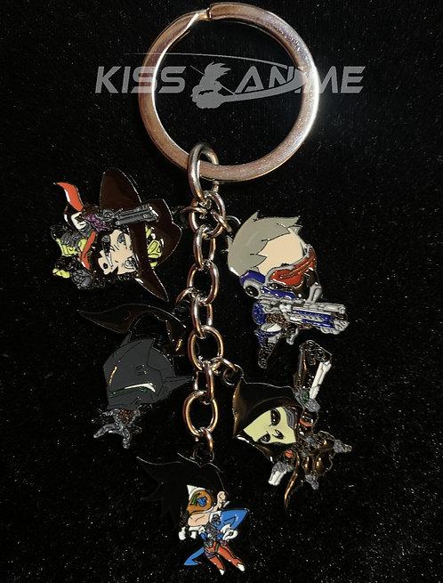 Overwatch 5 Pendant Metal Keychain