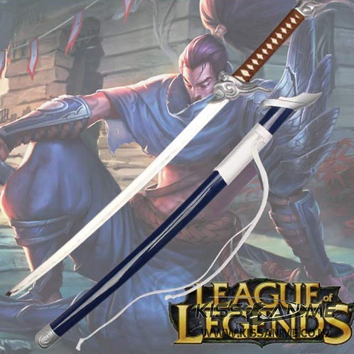Yasuo Sword League of Legends the Unforgiven Steel Replica Katana Gaming Cosplay