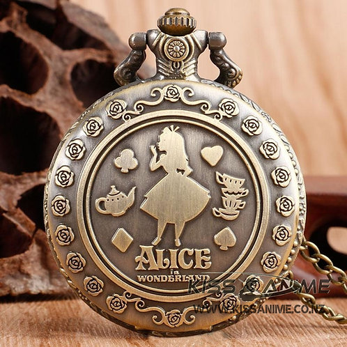 Alice in Wonderland Pendant Pocket Watch