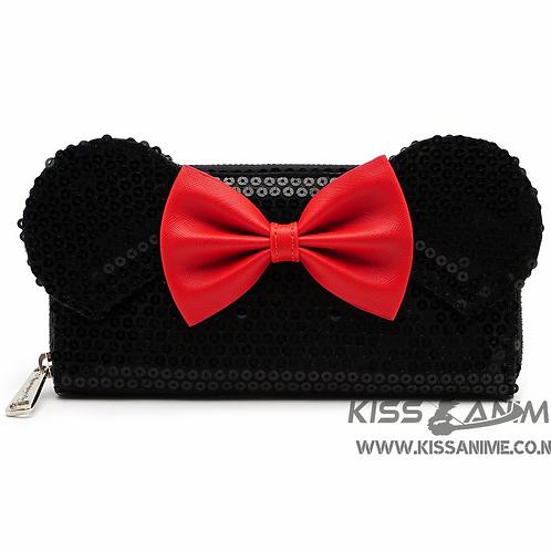 Loungefly Disney Mickey Mouse Minnie Sequin Zip Around Wallet