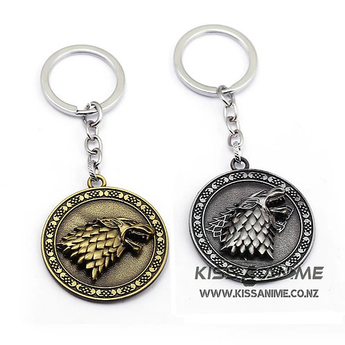 Game of Thrones House Stark Winter Is Coming Metal Rotatable  Keyring