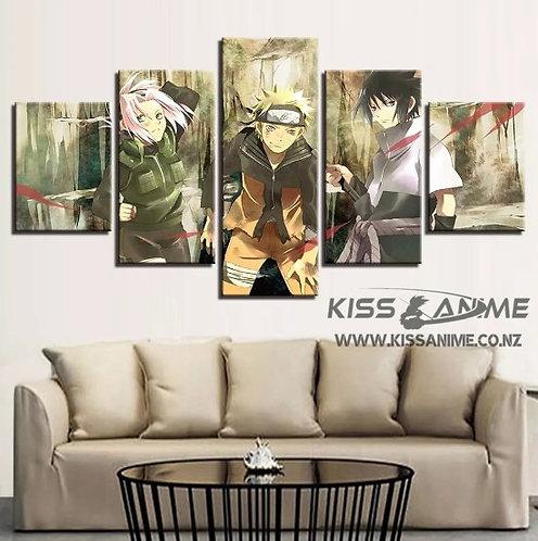 Naruto Uzumaki, Sasuke Uchiha, Sakura Haruno Canvas Painting
