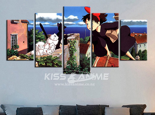 Kiki's Delivery Service Canvas Painting