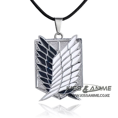 Attack on Titan Dual Wing Pendant Necklace