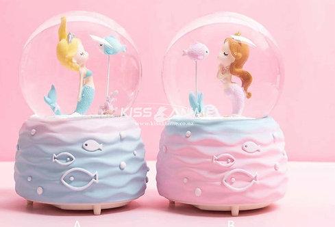 The Mermaid Crystal Ball Snowflake Music Box