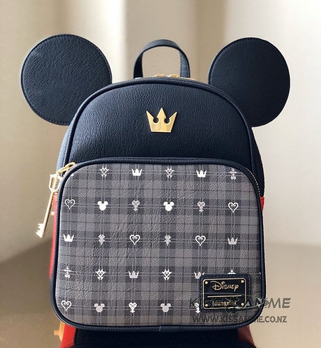 Loungefly Kingdom Hearts Mickey Mouse Convertible Mini Backpack