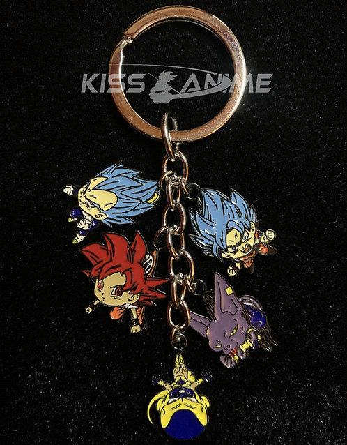 Dragon Ball Super 5 Pendant Metal Keychain