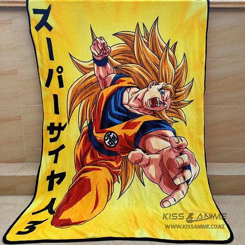 Dragon Ball Z Super Saiyan 3 Blanket
