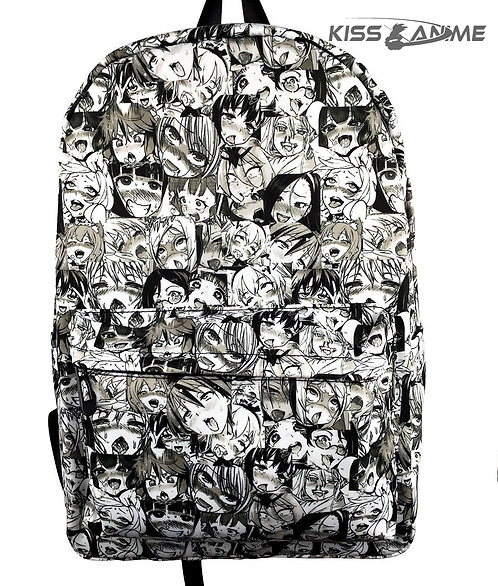 Ahegao Backpack School Bag