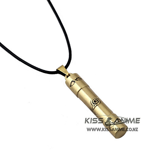 Naruto Konoha Symbol Scroll Necklace