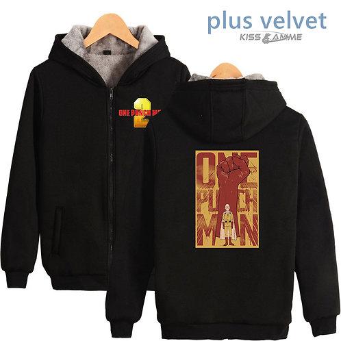 One Punch Man Oversized Plus Velvet Winter Jacket