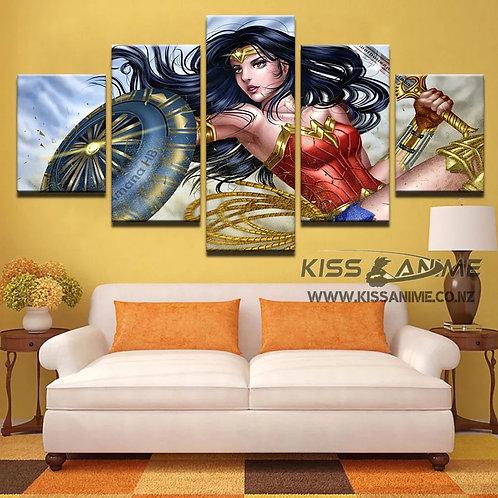 D.C. Wonder Woman Canvas Painting