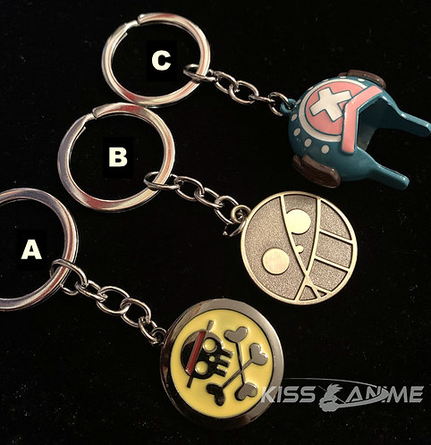 One Piece Luffy Symbol ?Rotatable Keychain