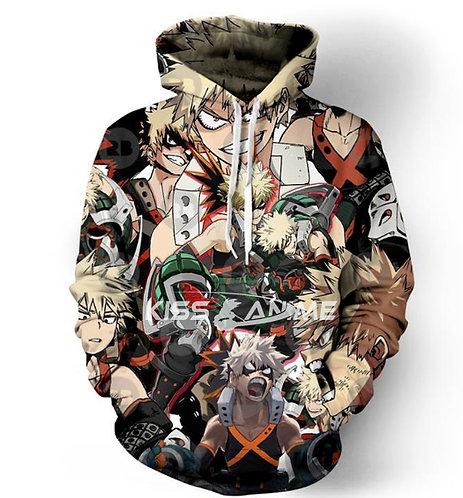 My Hero Academia  Katsuki Bakugo Pullover Jacket Sweatshirt