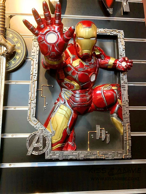 Marvel Iron Man Mark43 3D Stereo Painting Resin Statue(War Damaged Edition)