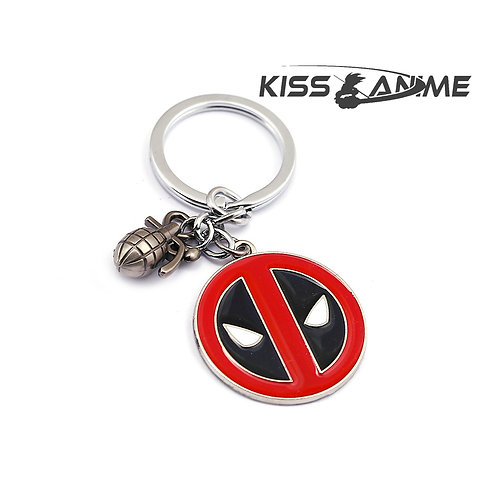Deadpool Symbol And Bomb Keychain