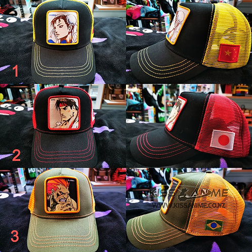 Street Fighter Embroidery Caps