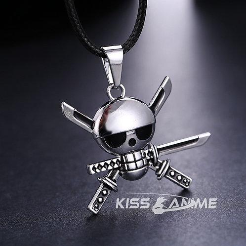 One Piece Zoro Symbol Pendant Necklace