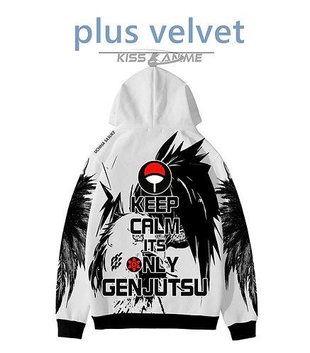 Sasuke  Oversized Plus Velvet Pullovers Sweatshirt