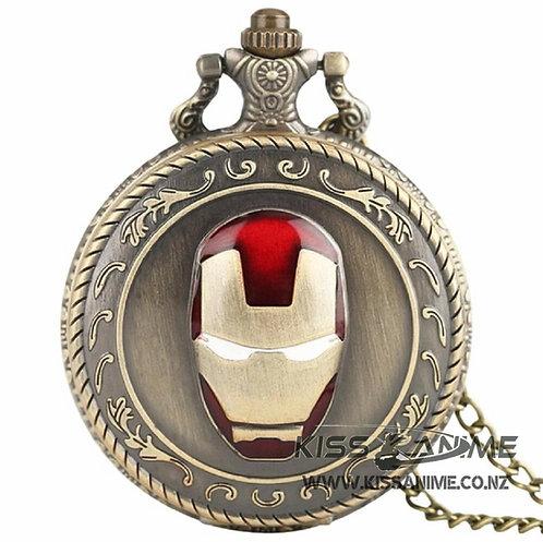 Marvel Iron Man Pendant Pocket Watch