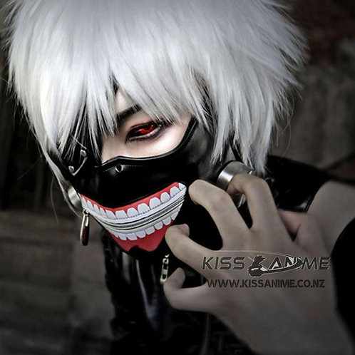 Tokyo Ghoul Mask Cosplay Costumes Kaneki Ken Cosplay Costumes Adjustable Zipper