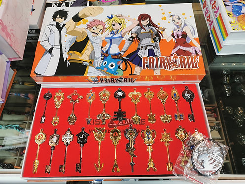 Fairy Tail Lucy Key Keychains Metal Collectible (22pcs)