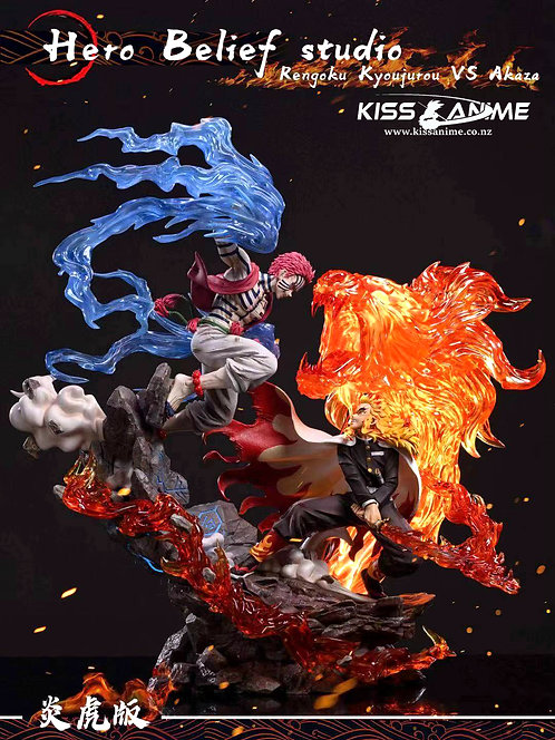 PRE-ORDER Hero BeliefStudio Demon Slayer Rengoku Vs AkazaGK Resin Statue 1/6