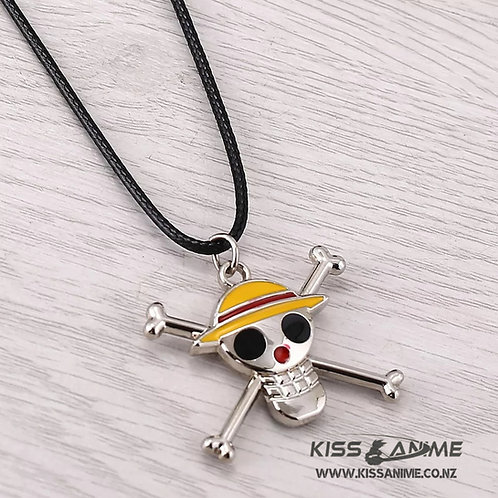 One Piece Straw Hat Pirates Pendant Necklace