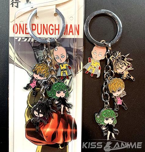 One Punch Man 4 Pendant Metal Keychain