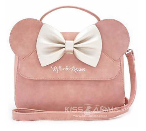 Loungefly Disney Minnie Mouse Ears Bow Pink Crossbody Bag