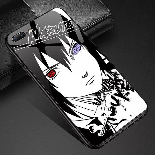 Naruto Sasuke Uchiha Tempered Glass Phone Case