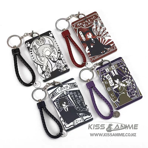 Bungo Stray Dogs Keychain with Card Holder
