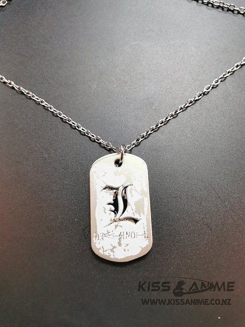 Death Note L Dog Tags Pendants Necklace