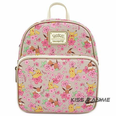 Loungefly X Pokemon Pikachu & Eevee AOP Convertible Mini Backpack