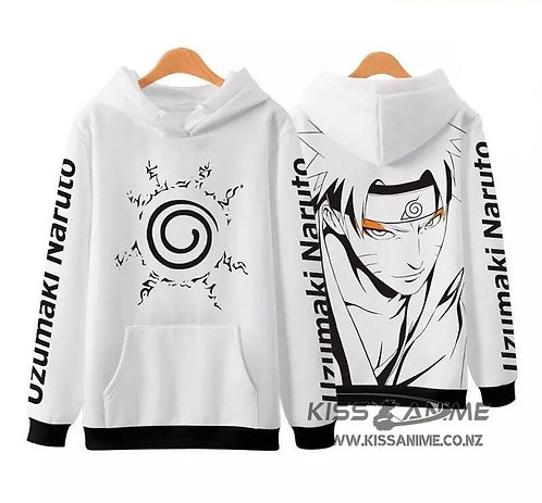 Naruto 3D Digital Printing Oversized Plus Velvet Pullovers Sweatshirt