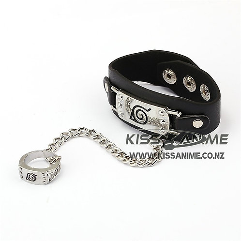 Naruto Logo Bracelet and ring
